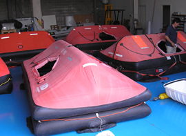 Solas, liferafts for profesional navigation